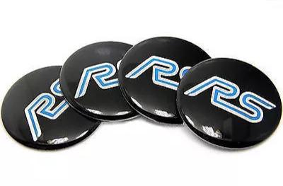 Ford Focus RS Turbo Wheel Cap tin stickers blue black
