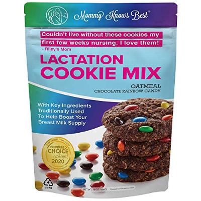 Lactation Cookies Mix - Oatmeal Chocolate Rainbow Candy Breastfeeding Cookie Sup