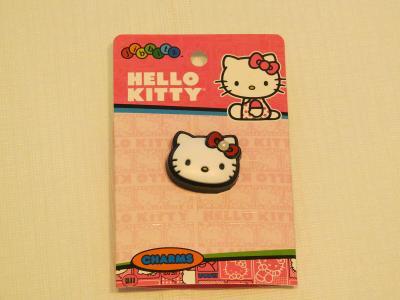 jibbitz Hello Kitty shoe charm crocs HKT Hello Kitty Prl face shoe accessory*^