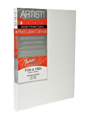 """11"""" x 14"""" Stretched Cotton Canvas Painting Art Red Label Standard 3/4"""" Bar 2pk"""