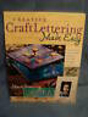 Marie Browning Creative Craft Lettering Made Easy Book 15 Projects Stamping NEW