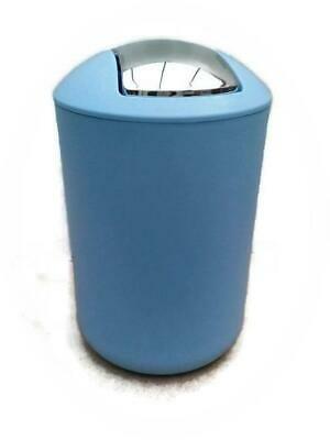 6 Litre Plastic Waste Paper Litter Rubbish Indoor Bin Swing Lid Blue