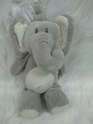 Kelly Baby 10-Inch Plush Animal   Baby Elephant with Rattle Clip-On Toy
