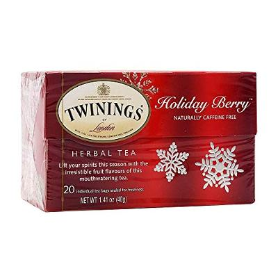 Twinings of London Herbal Holiday Tea - 1 Box, 20 Count Organic - Blend of Rose