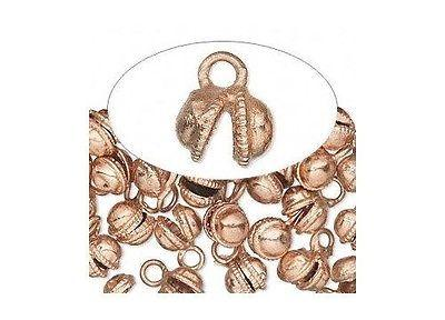 100 Copper Plated Clapperless Belly Dancer Bells 12mm with top Loop x 8mm wide