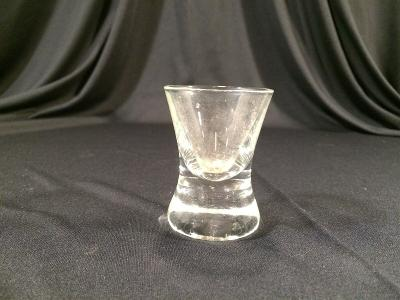 "Vintage Shot Glass Collectible 2-1/2"" Clear Curved"