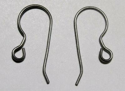 6 ea / 3 prs TITANIUM French Hook Ear Wires Earrings ASTM F67 Grade 1 (No Nickel