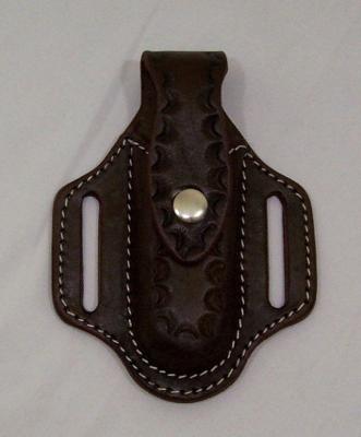 SNAP-Knife Holder Dark Brown Pancake Sheath for Buck 110 Folding Snap Closier