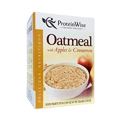 ProteinWise High Protein Instant Oatmeal, Apples and Cinnamon, Low Sugar, Low Fa