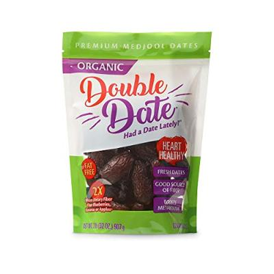 Double Date Organic Dates Medjool, 2lb Pouch Bag Dates Organic, Fresh and Flavor