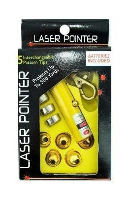 Laser Pointer Key Chain with Interchangeable Heads