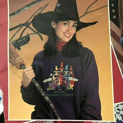 Halloween Holiday Counted Cross Stitch Patterns Phi Beta Boo Witches Sorority