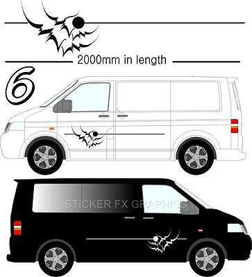Graphic Decals Self Adhesive Vinyl Stickers Any Vehicle VW Campers Motorhome D6