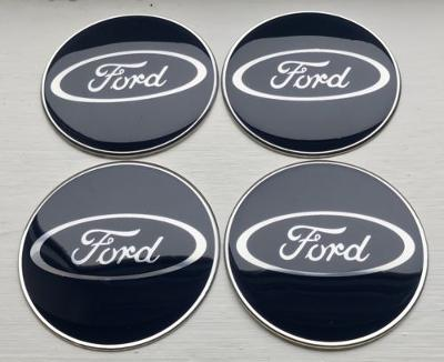 65mm Alloy Wheel Centre Hub Cap Tin & Resin Stickers for Ford Cars Vans D Blue