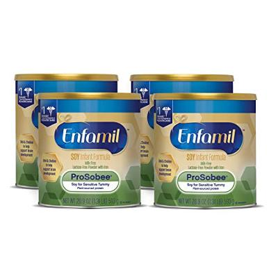 Enfamil ProSobee Soy-Based Infant Formula for Sensitive Tummies, Dairy-Free, Lac