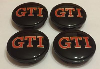 VW GTI Alloy Wheel Centre Hub Caps for VW Golf GTI Polo Passat Red & Black 60mm