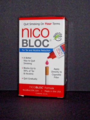 NicoBloc Nico Bloc Formula Tar Nicotine Reduction Aid 12/2021 New Sealed (u)