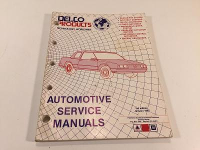 Vintage Delco Products Automotive Service Manuals 3rd Edition January 1985