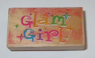 Glam Girl Rubber Stamp Wood Mounted Sparkle Stars