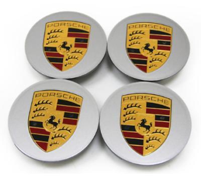Silver Porsche Wheel Centre Caps OE x4 size:76mm for Boxster Cayman 911 C2S C4S