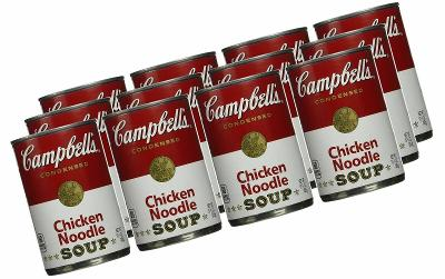 -15 CAMPBELL'S CHICKEN NOODLE SOUP 10 OUNCE CANS, Fast Priority Shipping