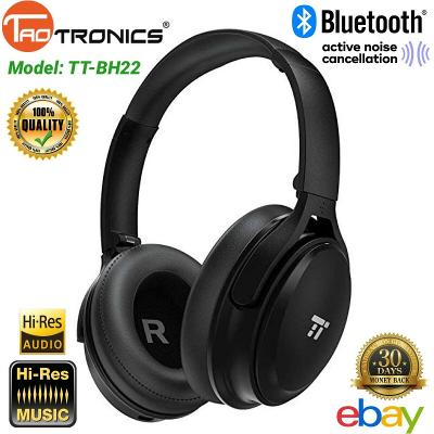 TaoTronics Bluetooth Headphones Wireless Noise Cancelling Power Bass Mic TT-BH22