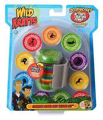 NEW Wild Kratts Toys Creature Power Disc Holder Set with 20 Discs - Chris Kratt