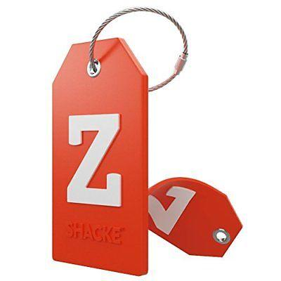 LETTER Z Initial Luggage Tag w/ Full Privacy Cover & Stainless Steel Loop NO TAX