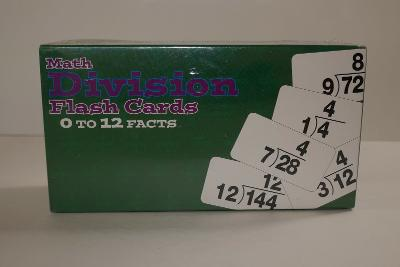 Math Division Flashcards SEALED