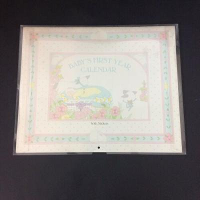 Mother Goose Babys First Year Calendar Memory Book with Stickers Illustrations
