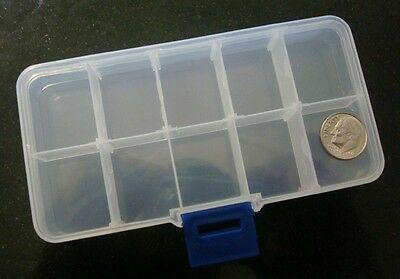 Bead storage easy to use fishing sew craft bead container 10 storage slots cr006