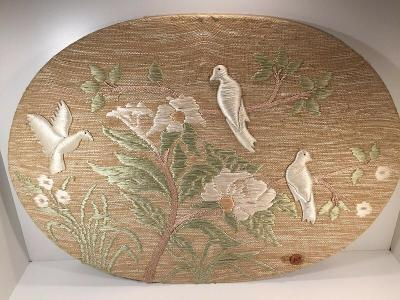 "Vintage Don Freedman 125 Wall Hanging Woven Art Textile 42"" x 30"" Birds"