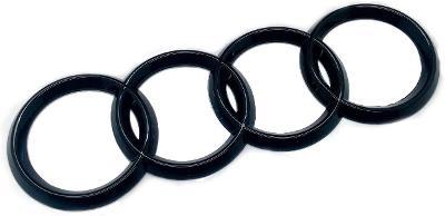 Black Audi Rings Rear Boot Badge Emblem universal fitment