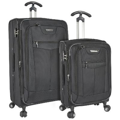 Travelers Choice Clayton 2-Piece Spinner Luggage Set