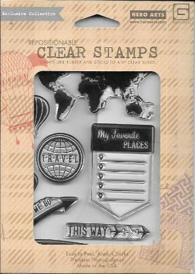 Hero Arts #CL 690 My Favorite Travel Collection by BasicGrey Clear Stamps - NIP