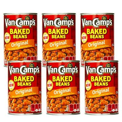 Van Camps, Original, Baked Beans, 15oz Can (Pack of 6)