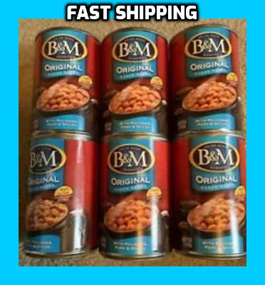 6 - B&M ORIGINAL BAKED BEANS, 16 Oz Cans (6 Cans Included)