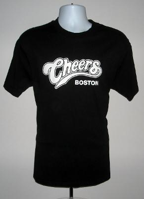 NEW MENS CHEERS BOSTON T SHIRT LARGE BLACK WHERE EVERYONE KNOWS YOUR NAME SHOW