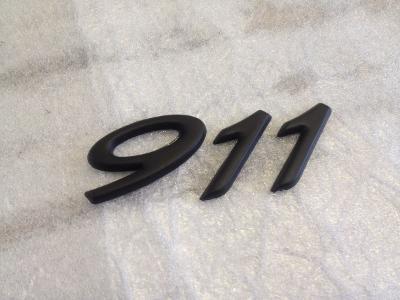 Black Porsche 911 Rear Badge Emblem for 996 997 911 Turbo Carrera 2S 4S