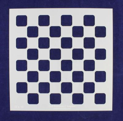 """Checker/Chess Board Stencil 14 mil Mylar-15"""" x 15""""- Painting/Crafts/Template"""