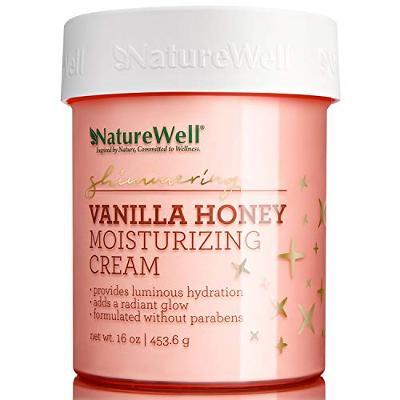 NatureWell Shimmering Vanilla Honey Moisturizing Cream 16 oz / 453.6 g