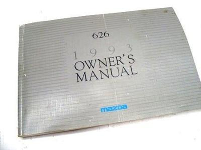 1993 MAZDA 626 Owners Manual Guide USED