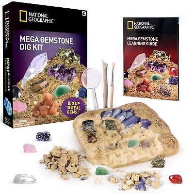 NATIONAL GEOGRAPHIC Mega Gemstone Mine - Dig Up 15 Real Gems