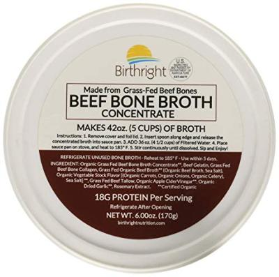 Grass Fed Beef Bone Broth, Beef Broth with Keto Collagen, Keto Protein Beef Bou