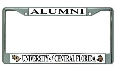 UCF Knights Alumni On White License Plate Frame