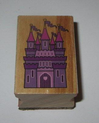 """Castle Rubber Stamp Princess Heart Wood Mounted 2"""" High"""
