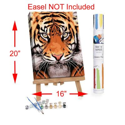 """Adult Paint By Numbers Acrylic Set Tiger Face 16x20"""" Winnies Picks"""