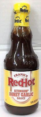 Frank's RedHot Stingin Honey Garlic Sauce 12 oz Franks Red Hot