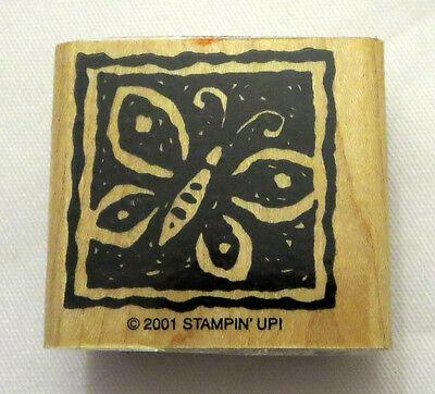 Butterfly Stampin' Up! Rubber Stamp 2001 Retired Butterflies Antenna Wings
