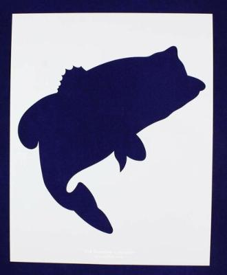 Bass (fish) Jumping Stencil -Large- Set-14 Mil Mylar- Painting/Crafts/Template